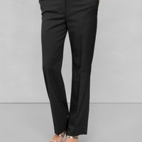 & Other Stories | Tailored Wool-Blend Trousers | Black