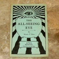 All Seeing Eye 1931 Occult Publication - Manly P. Hall - 1st Edition - Rare Esoteric Rosicrucian and Masonic Booklet - April