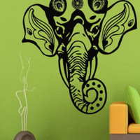 Wall Decals Vinyl Decal Sticker Home Interior Design Art Mural Living Room Decor Decorated Elephant Head Indian Pattern Ganesha Head KT70 - Edit Listing - Etsy