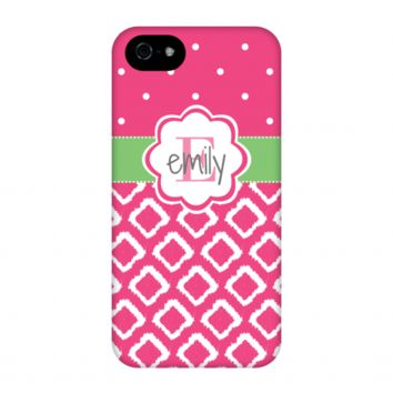 Hot Pink iKat Personalized Phone Case