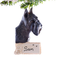 Schnauzer personalized Christmas ornament - black miniature schnauzer personalized ornament - pet lovers perfect gift