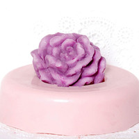 Cabbage Rose Silicone mold - Large rose food safe silicone - gum paste mold - sugarcraft mold - chocolate mold - handmade  in the USA mold