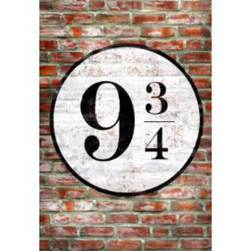 Amazon.com: Platform 9 3/4 King's Cross Poster Print - 11x17: Home & Garden