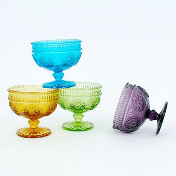 4-Pc. Vintage Style Ice Cream Bowls - Assorted Colors