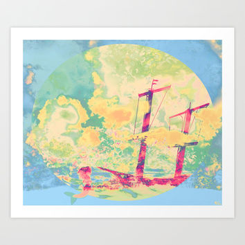 Sail in the Set Art Print by Ben Geiger
