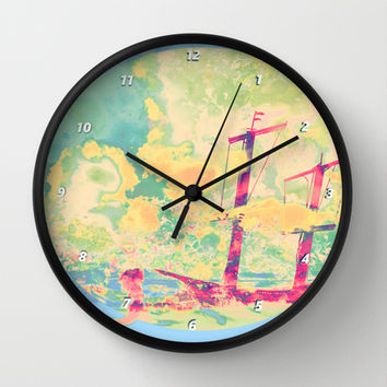 Sail in the Set Wall Clock by Ben Geiger