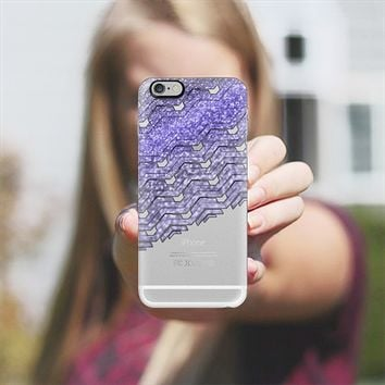 Glitter purple chevron iPhone 6 Plus case by VanessaGF | Casetify