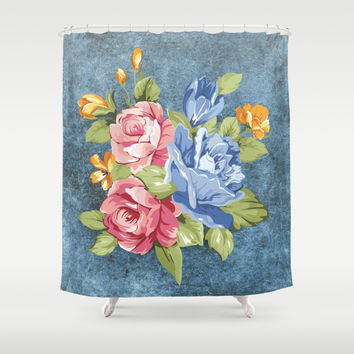 Flowers Shower Curtain by Haroulita