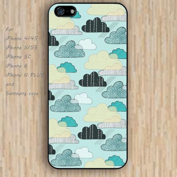 iPhone 5s 6 case colorful Cartoon clouds phone case iphone case,ipod case,samsung galaxy case available plastic rubber case waterproof B234