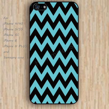 iPhone 5s 6 case colorful chevron blue black iphone case,ipod case,samsung galaxy case available plastic rubber case waterproof B242