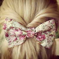 floral BIG hair bow