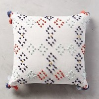 Diamond Dot Pillow by Anthropologie Ivory 18 Square Pillows