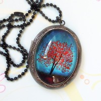 Maple Fall  Wearable Art Locket by saruscrafts on Etsy