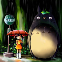 Totoro Art Print by Andrea Parry | Society6