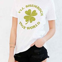 Junk Food St. Patty's Day Shamrock Tee- White