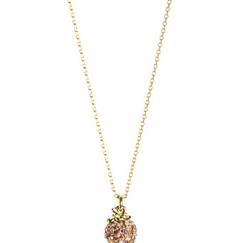 GOLD PAVE STRAWBERRY WISH NECKLACE by Juicy Couture, O/S