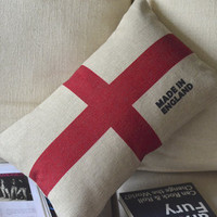 England Print Decorative Pillow B [045] : Cozyhere