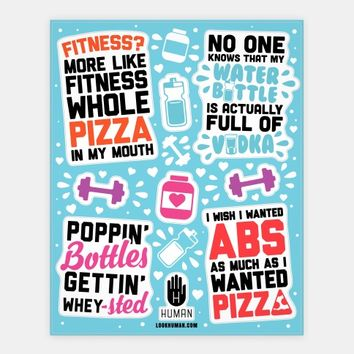 Funny Fitness Stickers