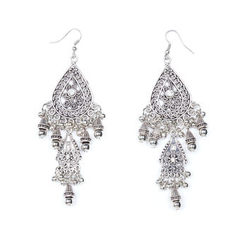 Belly Dancer Jeweled Droplet Earrings