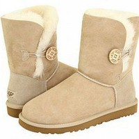 Sand Bailey Button UGG Boots [5803 Sand] - £65.55 :