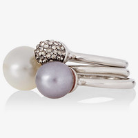MULTI STONE RING TRIO from EXPRESS