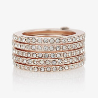 PAVE HINGE STACK RING from EXPRESS
