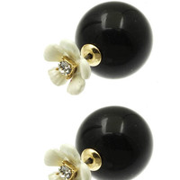 Dress Up Flower and Ball Double Earrings