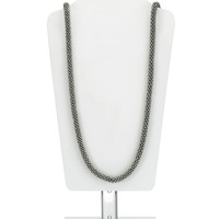 Long Bobble Rope Necklace | Silver | Accessorize