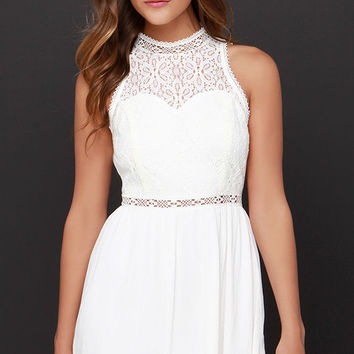Angelic Arrival Ivory Lace Dress