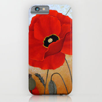 POPPIES I iPhone & iPod Case by Deyana Deco