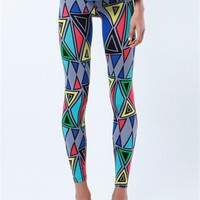 A&#x27;GACI Deco Print Legging - BOTTOMS