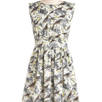 Emily and Fin Too Much Fun Dress in Bird | Mod Retro Vintage Dresses | ModCloth.com