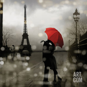 Paris Romance Art Print by Kate Carrigan at Art.com