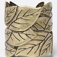 The Leaf Wrap Cuff in Gold