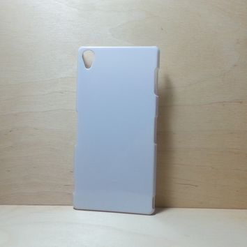 For Sony Xperia Z3 White Hard Plastic Snap On Case