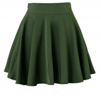 Darkgreen Skater Skirt - New Arrivals - Retro, Indie and Unique Fashion