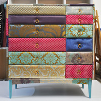 patchwork dresser by namedesignstudio on Etsy