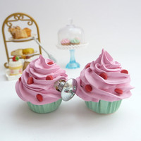 DRAWER KNOBS fake cupcake set of 2 cabinet pull drawer by shimrita
