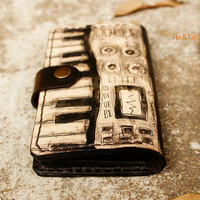 Father&#x27;s Day Gift / Unisex NEW iPhone 5 Wallet leather hand stitched , iPod , iTouch case - iSynth