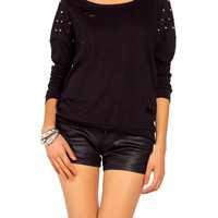 Slashed Stud Long Sleeve - 2020AVE