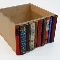 Modern Library Storage Bin Stylish Storage for by AbleandBaker