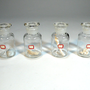vintage industrial 4 APOTHECARY BOTTLES glass by SugarCubeVintage