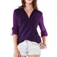 Everyday Top in Purple - ShopSosie.com