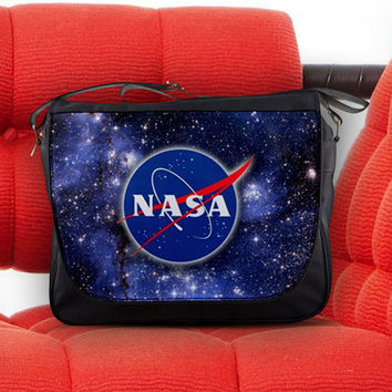 National Aeronautics and Space Administration (NASA) Space Program Unisex Messenger Sling Laptop Notebook School Bag