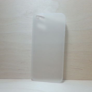 For Apple iPhone 5 / 5s Frosted White Super Slim 0.3 mm Hard Plastic Snap On Case