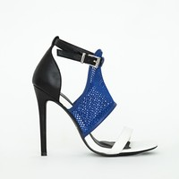Missguided - Mesh Contrast Heeled Sandals