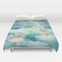 Guard Your Heart. Protect Your Dreams. (Beluga Dreams) Duvet Cover by Soaring Anchor Designs