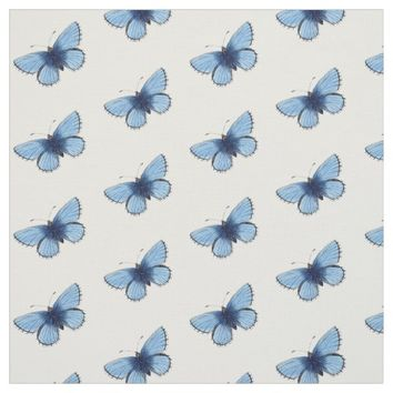 Vintage Blue Butterfly Fabric