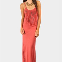 Dana Beaded Maxi Dress - Rust at Necessary Clothing