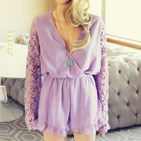 Lilac Valley Romper